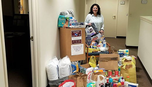 More Than 150 Lbs of Supplies Gathered in 8th Legislative District's Hurricane Maria Collection Drive
