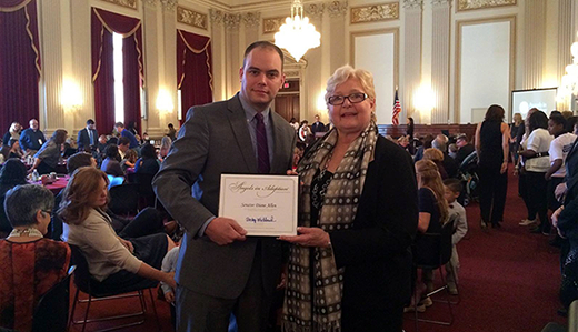 U.S. Congressional Coalition Honors Allen for Longtime Advocacy Work Benefitting Adoptees