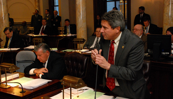 Senator Kip Bateman Speaking During Senate Session