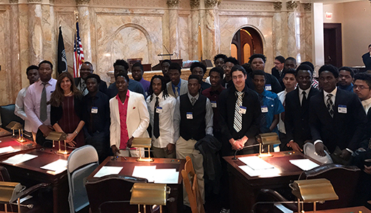 Beck Honors Asbury Park Student Athletes on Senate Floor