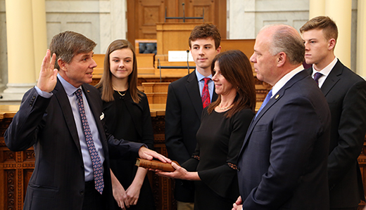 Chris Brown Sworn in as Atlantic County's Newest State Senator
