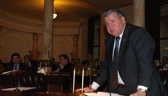 Senator Bucco Speaking During Senate Session on February 22, 2010