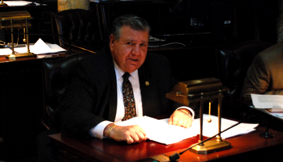Senator Anthony Bucco (R-25) in Senate Chamber
