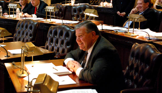 Senator Anthony Bucco During Senate Session on 3/7/08