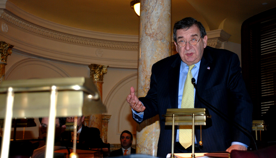 Senator Cardinale Speaking During Senate Session on February 22, 2010