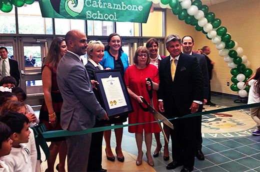 Beck, Angelini & Casagrande Join Governor for Ribbon Cutting of New Long Branch Elementary School
