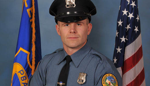 Waldwick Police Officer Goodell, a former U.S. Marine, was killed in the line of duty on July 17, when a tractor trailer struck the 32-year-old while he was operating radar on Route 17.