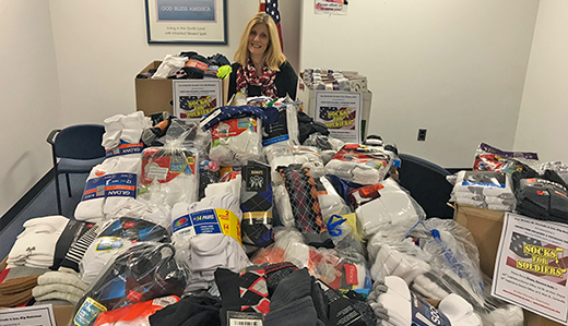 3,000+ 'Socks for Soldiers' Collected By Corrado & Bateman