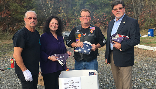 8th District Legislative Office Donates Tattered Flags for Retirement Ceremony