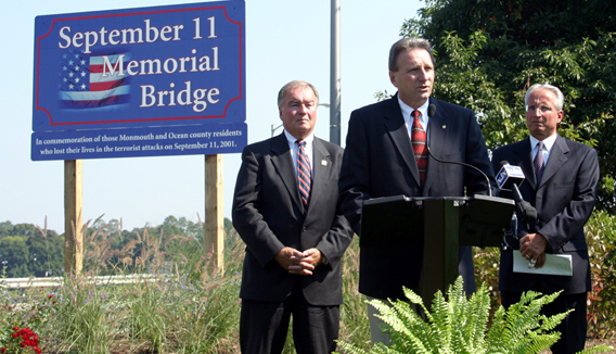 Ciesla and Wolfe Dedicate 9/11 Memorial Bridge in Brielle