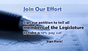 Sign the Petition to Cut Legislators' Pay!