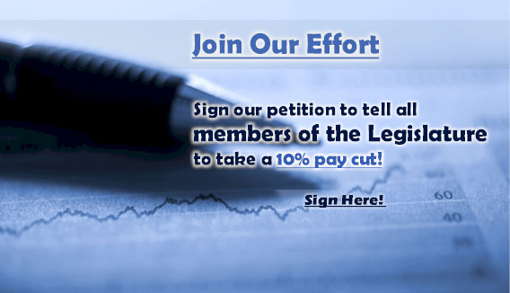 Sign the Petition to Cut Legislators&#8217; Pay!