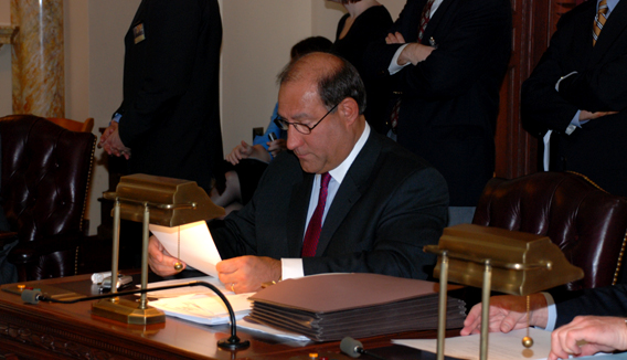 Senator Christopher Connors (R-9) During a Recent Senate Session