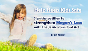 Sign the Petition to Help Pass Jessica's Law in New Jersey
