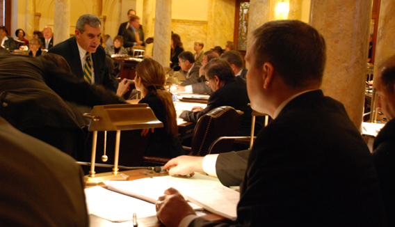 Senator Mike Doherty During Senate Session on December 10, 2009