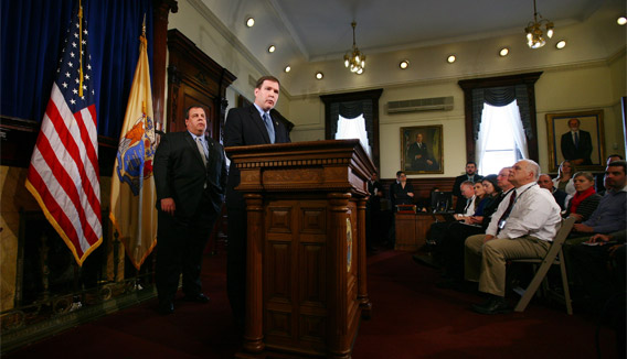 Gov. Christie and Sen. Doherty Announce Education Funding Task Force