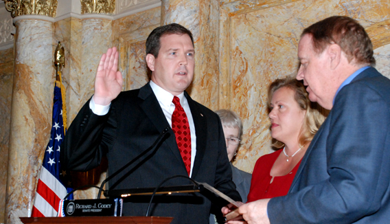 Senator Mike Doherty Being Sworn-In to the Senate