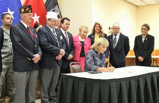 Guadagno Signs into Law Bucco Bill to Create 'Military Appreciation Month'