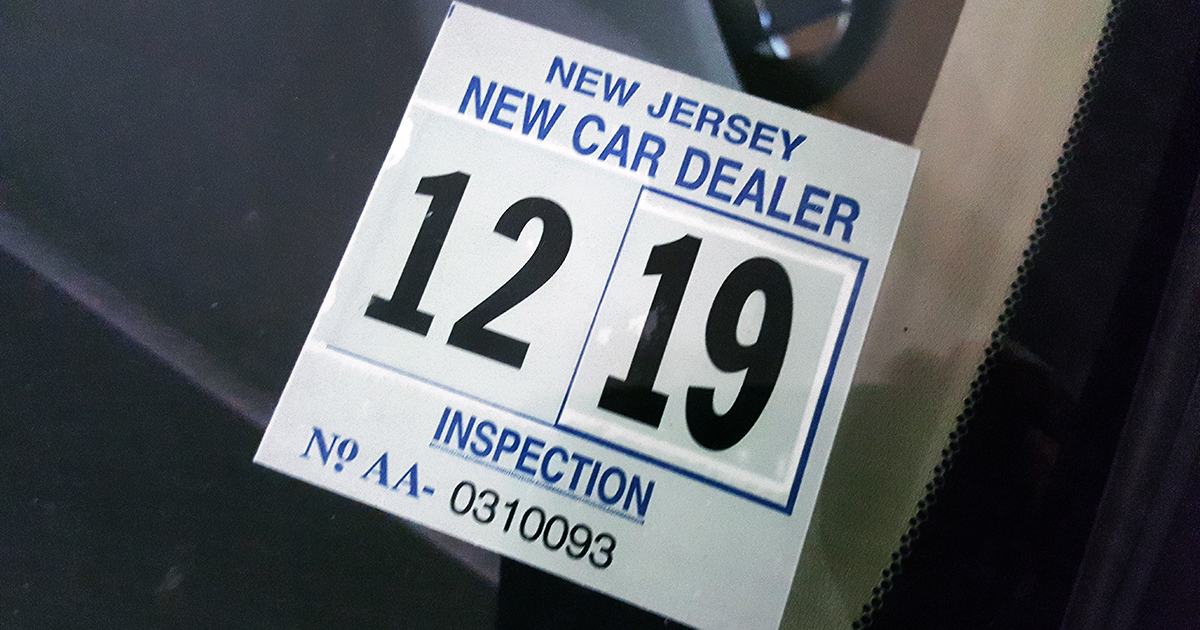 Nj Vehicle Inspection >> Advanced: Doherty Bill Requiring MVC to Issue Windshield ...