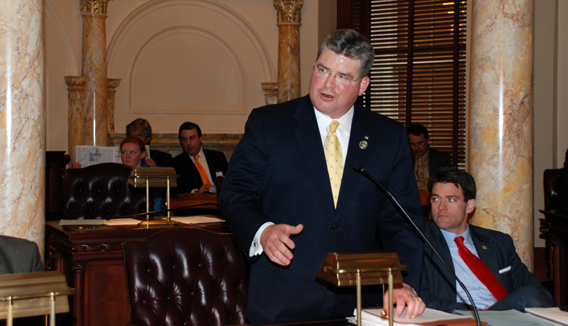 Senator Oroho Speaking During Senate Session on February 22, 2010