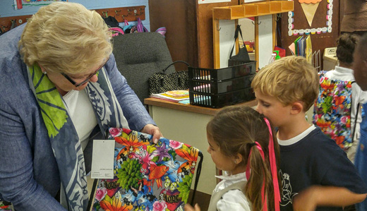 Allen Brings Smiles to Students in Burlington City With New School Supplies