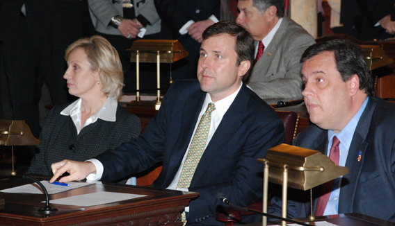 Christe and Guadgno Join Tom Kean for Swearing-in of Senator Doherty