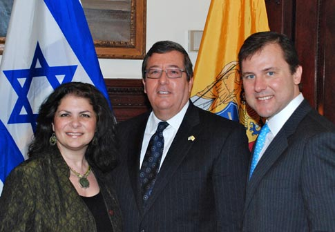 Sens. Addiego and Kean with NJ Israel Commission Chairman Levenson