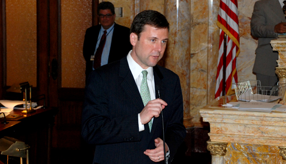 Senator Tom Kean Speaking During Senate Session on March 11, 2010