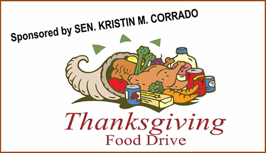 Corrado Organizing Thanksgiving Food Drive to Feed Hungry Families in Legislative District