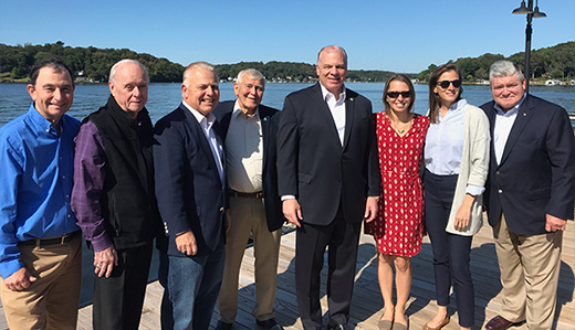 Pennacchio & Oroho Tour Lake Hopatcong with Senate President Sweeney