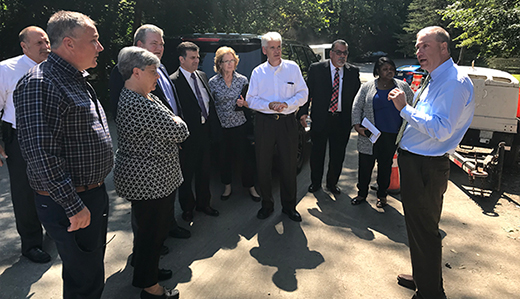 Oroho, Space & Wirths Host DOT Commissioner on Tour of Local Projects