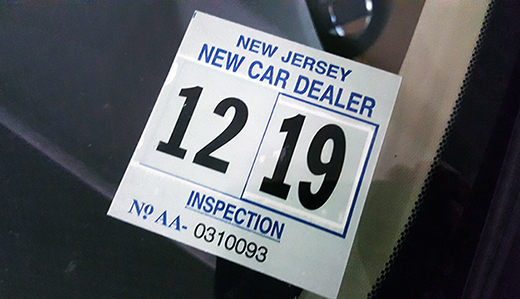 Nj Vehicle Inspection >> Advanced Doherty Bill Requiring Mvc To Issue Windshield