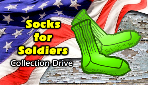 "Corrado & Bateman Running ""Socks for Soldiers"" Collection Drive in February"